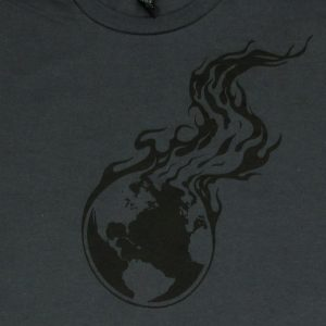 Burning Earth Black Logo | Men's Charcoal T-Shirt
