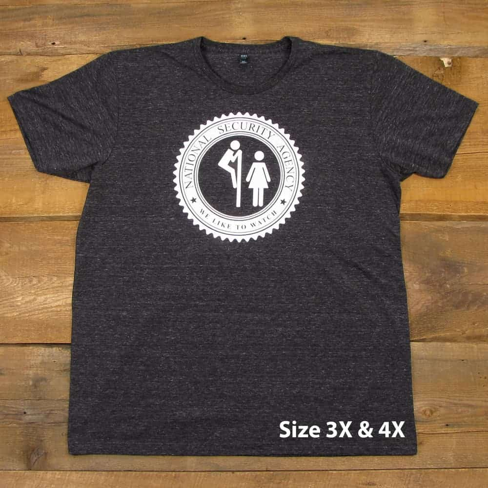 The NSA Likes to Watch | Tri-Blend Men's T-Shirt