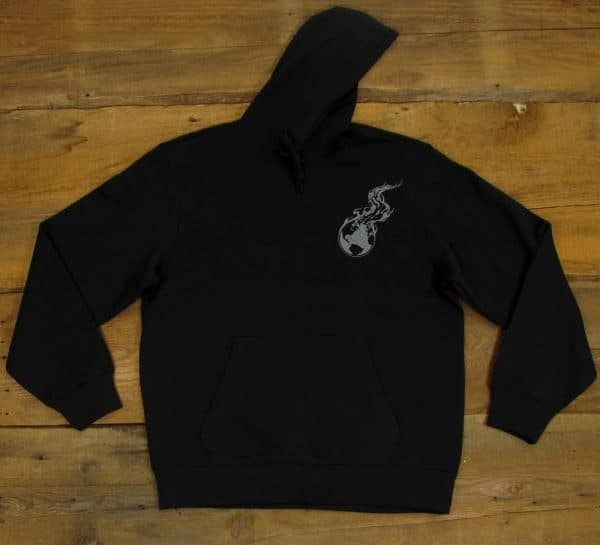 Viking Moon | Black Heavyweight Pullover Hooded Sweatshirt - Limited Edition
