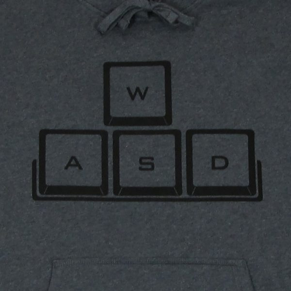 WASD Black Logo | Dark Gray Heavyweight Pullover Hooded Sweatshirt