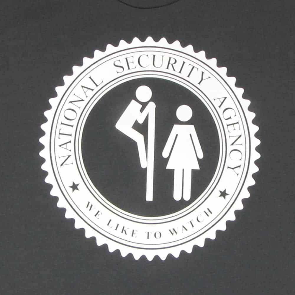 The NSA Likes To Watch | Men's Heavy Metal T-Shirt