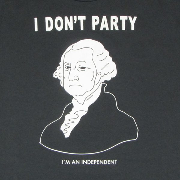 George Washington Doesn't Party | Men's Heavy Metal T-Shirt