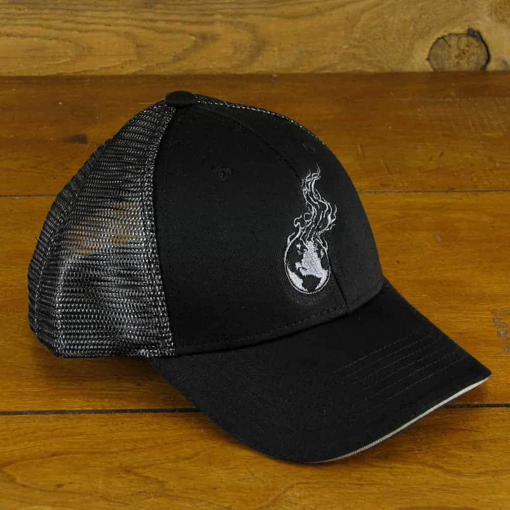 Burning Earth Gray Logo | Black/Silver Snap Back Baseball Cap