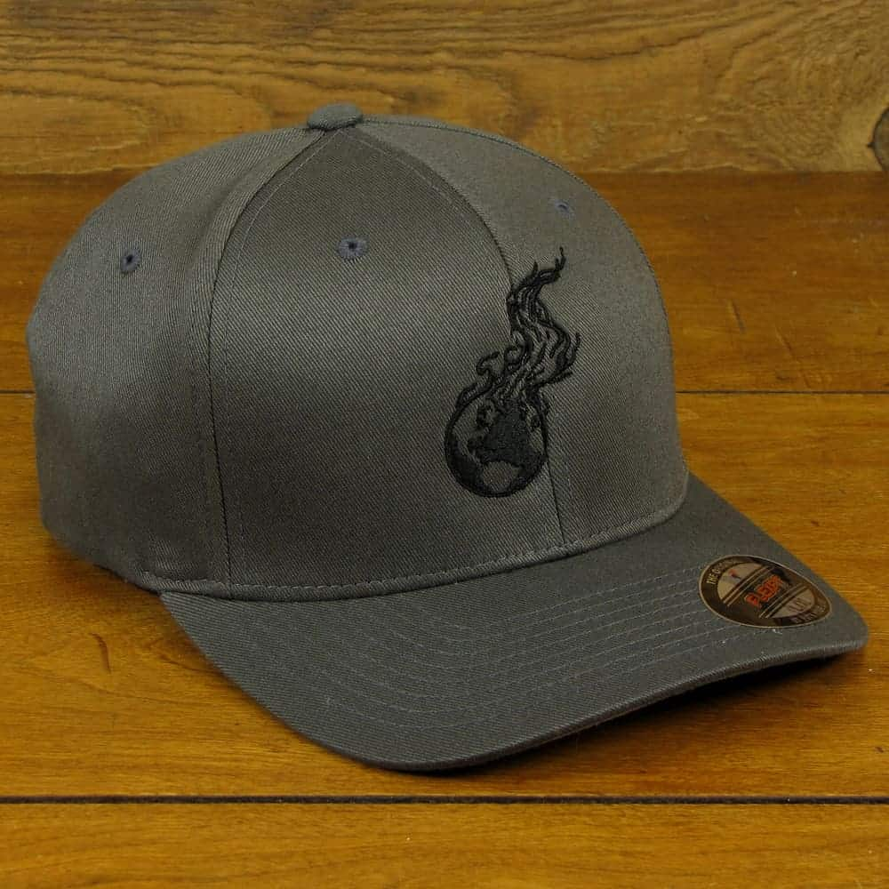 Burning Earth Black Logo | Gray Poly/Cotton Baseball Cap