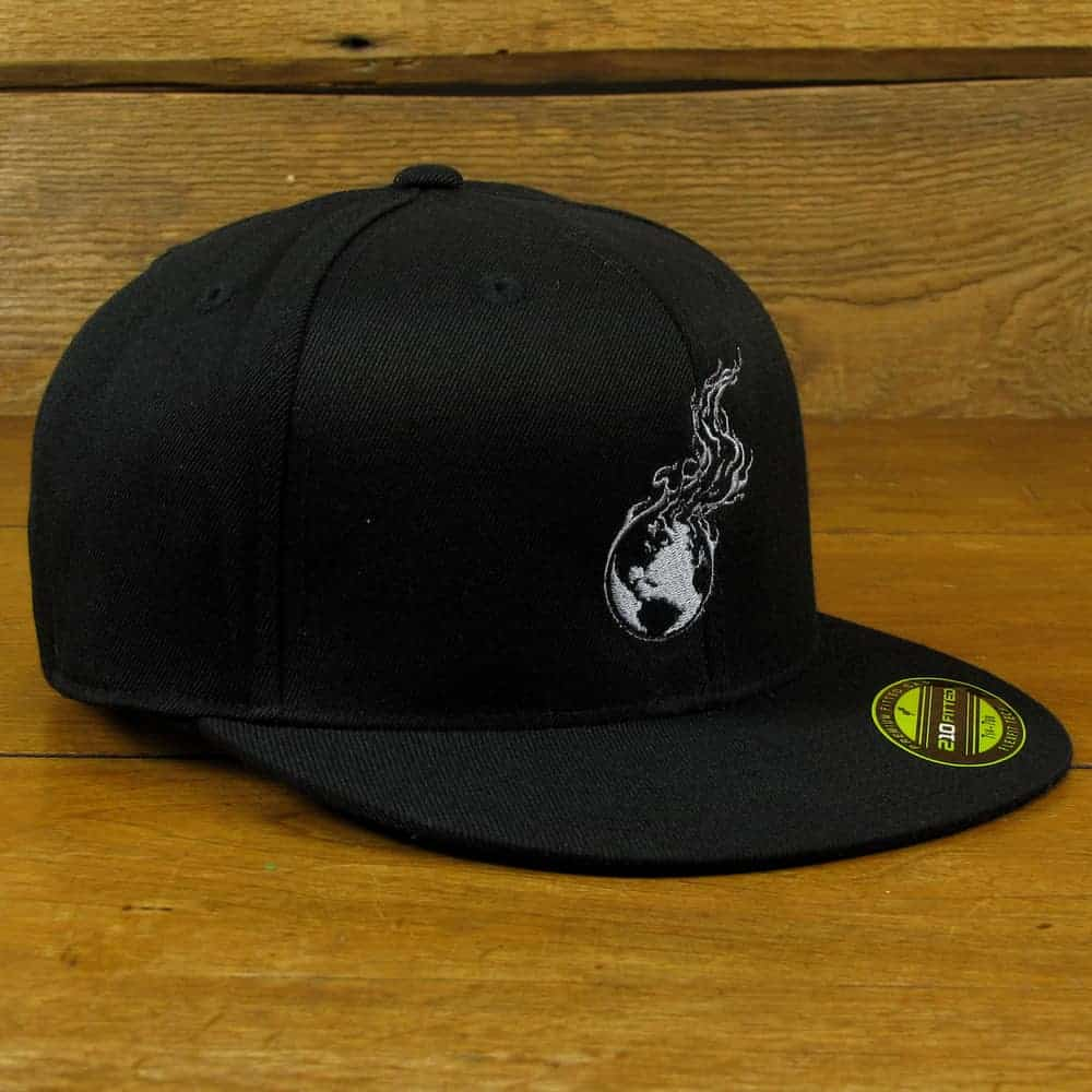 Burning Earth Gray Logo | Flat Bill Wool Blend Baseball Cap
