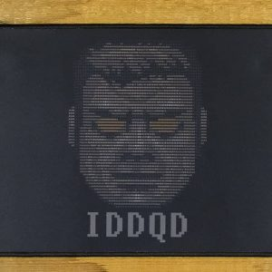 God Mode ASCII Art Mousepad (IDDQD) | 40cm x 25cm x 2mm