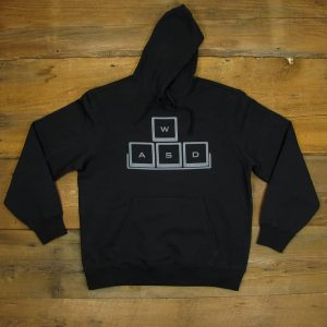 WASD Gray Logo | Heavyweight Pullover Hooded Sweatshirt