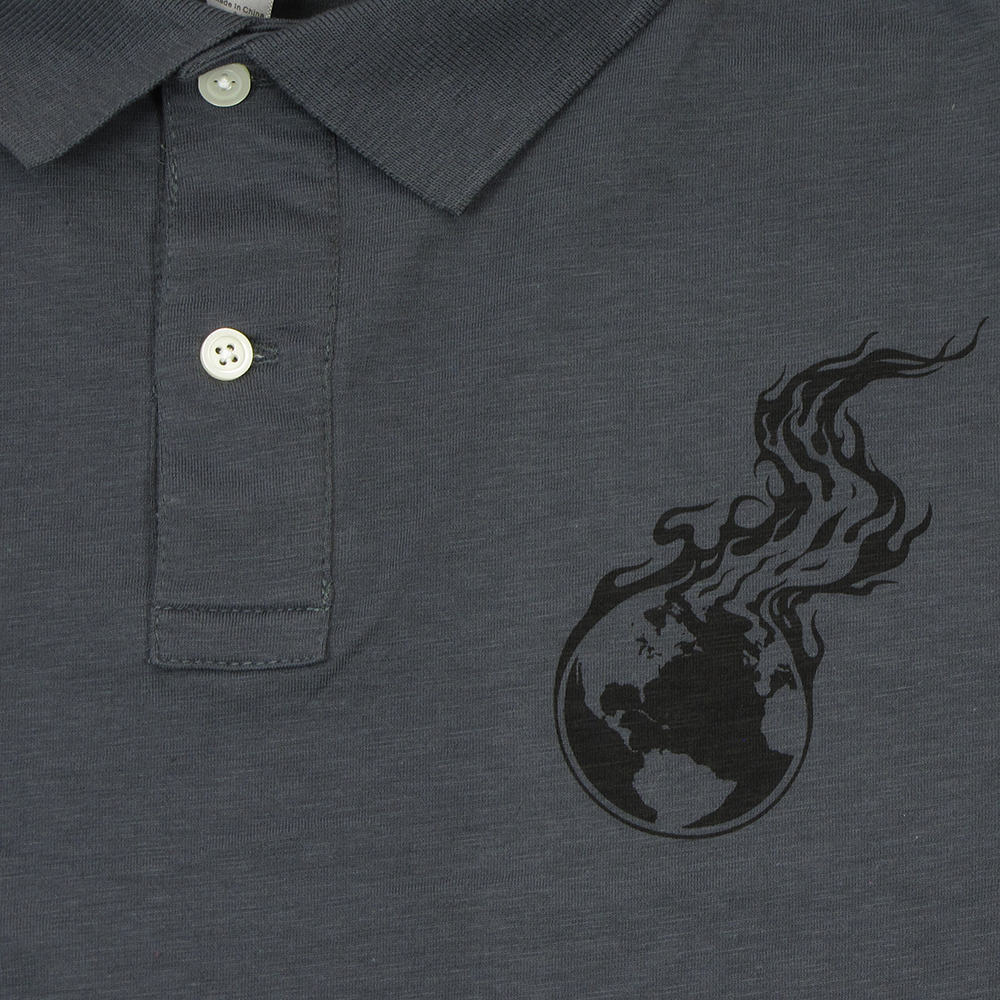 Burning Earth | Heavy Metal Slub Polo Shirt