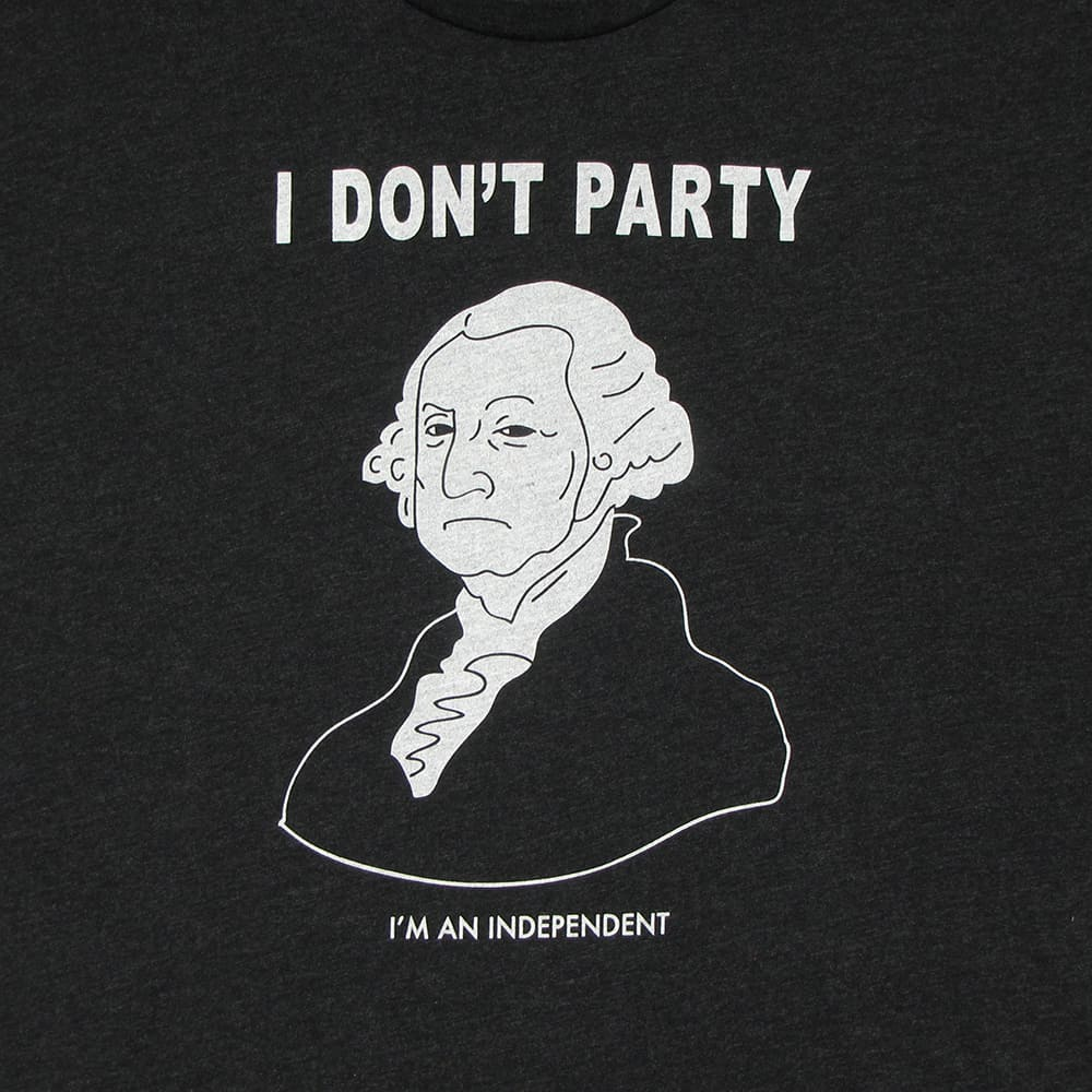 George Washington Doesn't Party | Tri-Blend T-Shirt