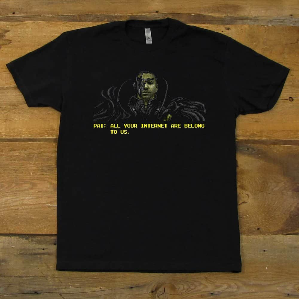 Ajit Pai - All Your Internet Are Belong To Us, Dec-Jan Shirt of the Month | Men's Black T-Shirt