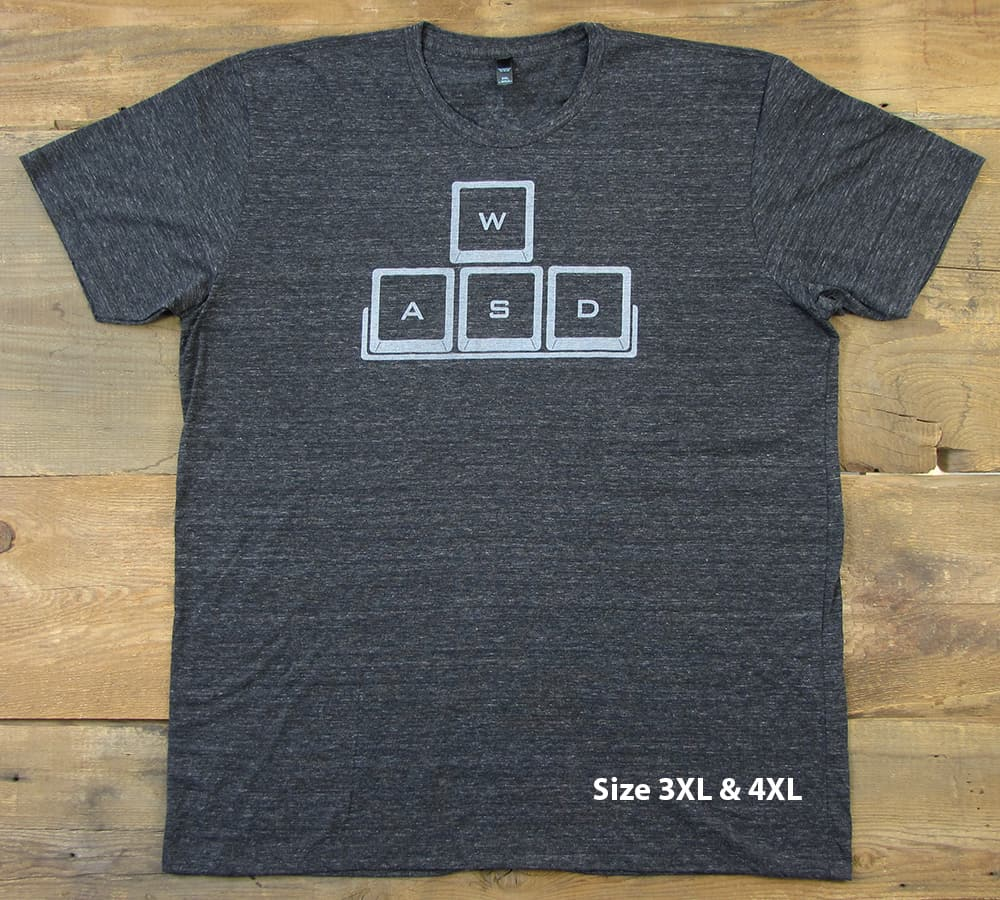 WASD Gray Logo | Tri-Blend Men's T-Shirt