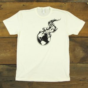Burning Earth Black Logo | Natural Men's T-Shirt