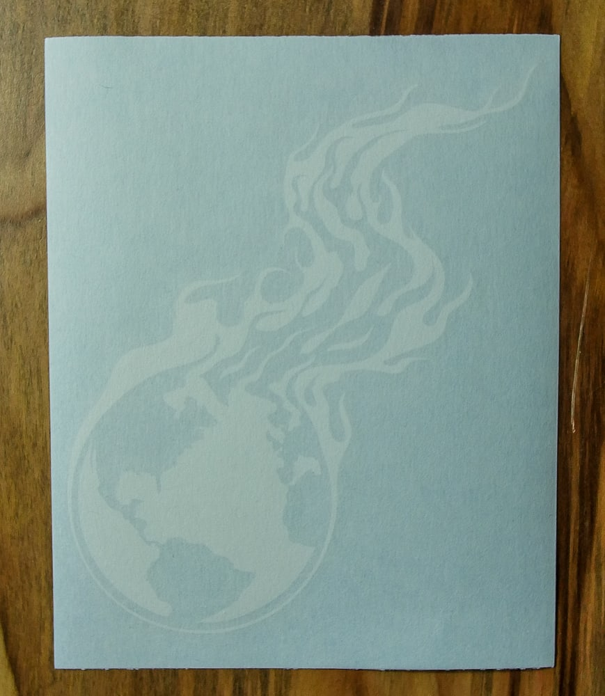 Burning Earth Cut Vinyl Decal