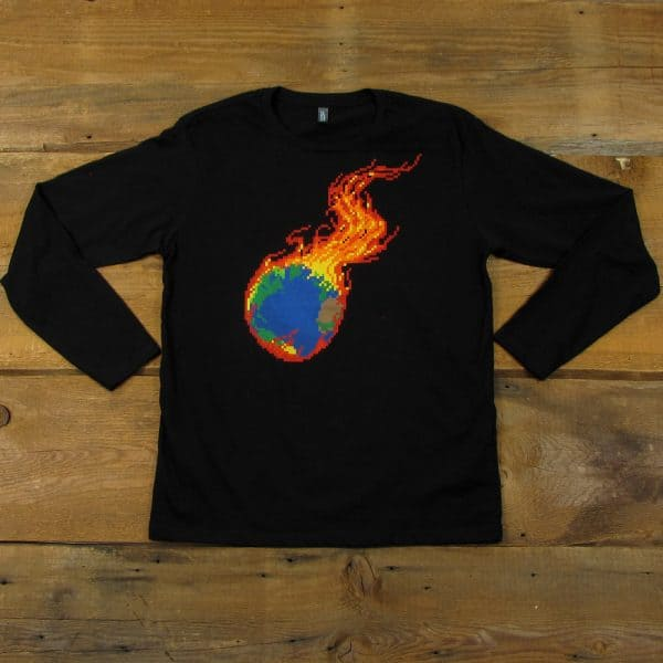 Pixel Burning Earth | Limited Edition Long Sleeve