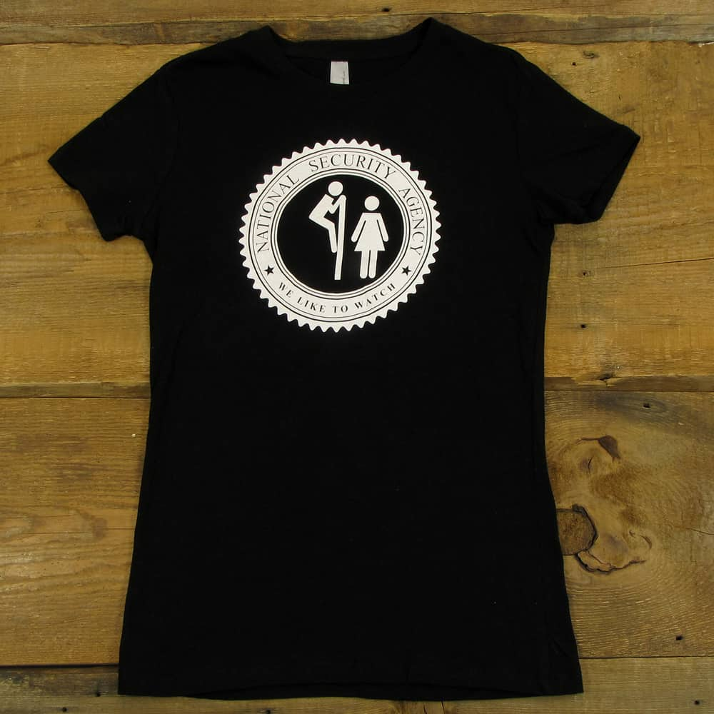 The NSA Likes To Watch | Women's Black T-Shirt