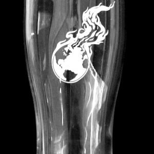 Pint Glass - 16 Ounce | Burning Earth Logo