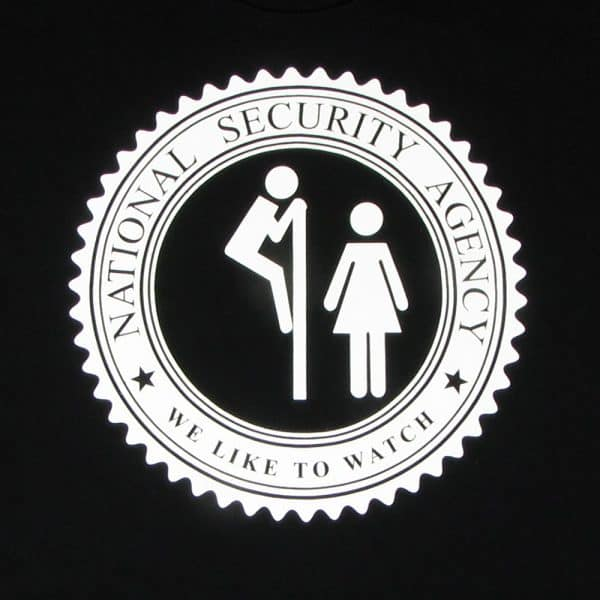 The NSA Likes To Watch | Men's Black T-Shirt