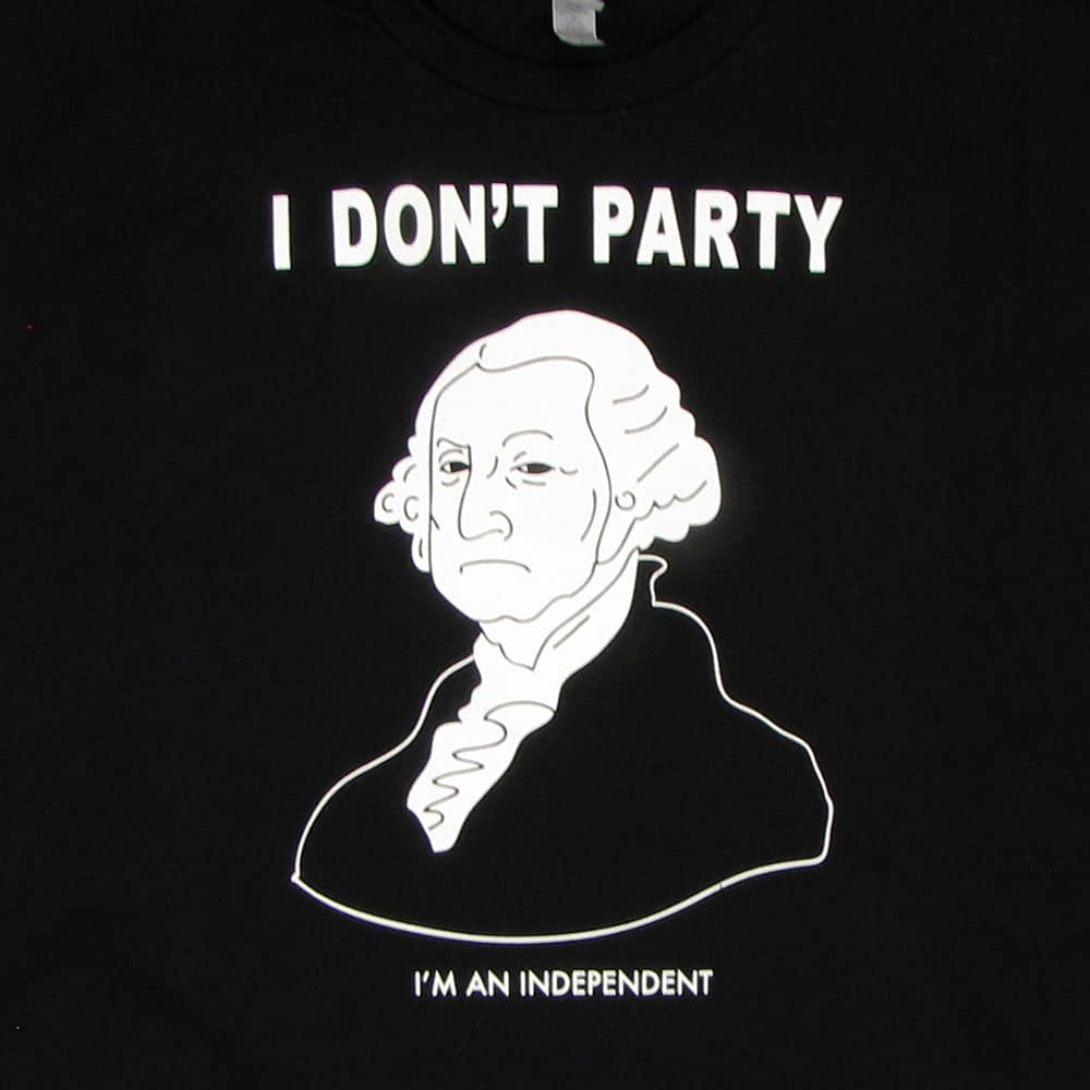 George Washington Doesn't Party | Men's Black T-Shirt