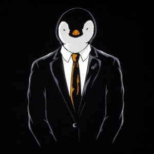 Linux Official Penguin | Men's Black T-Shirt