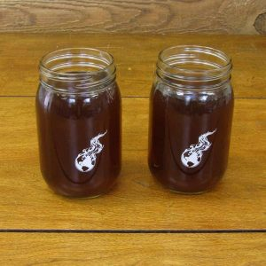 Mason Jar 16 oz. | Burning Earth Logo