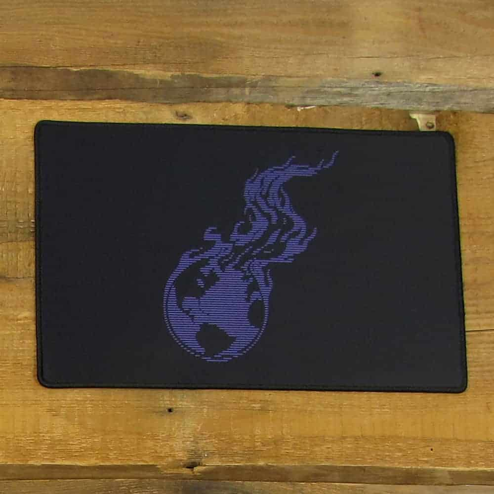 Purple Lined Burning Earth Mousepad | 40cm x 25cm x 2mm