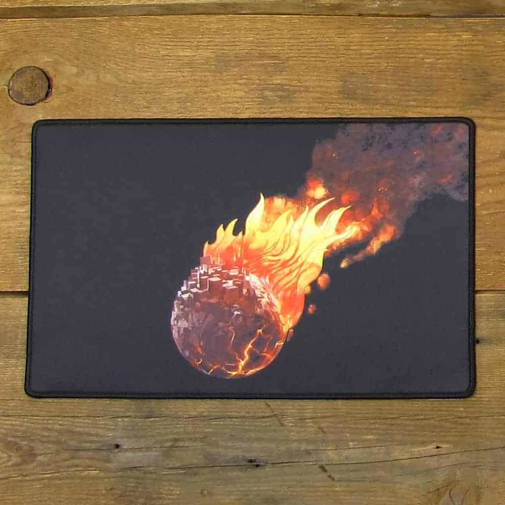 Full Color Burning Earth Mousepad | 40cm x 25cm x 2mm