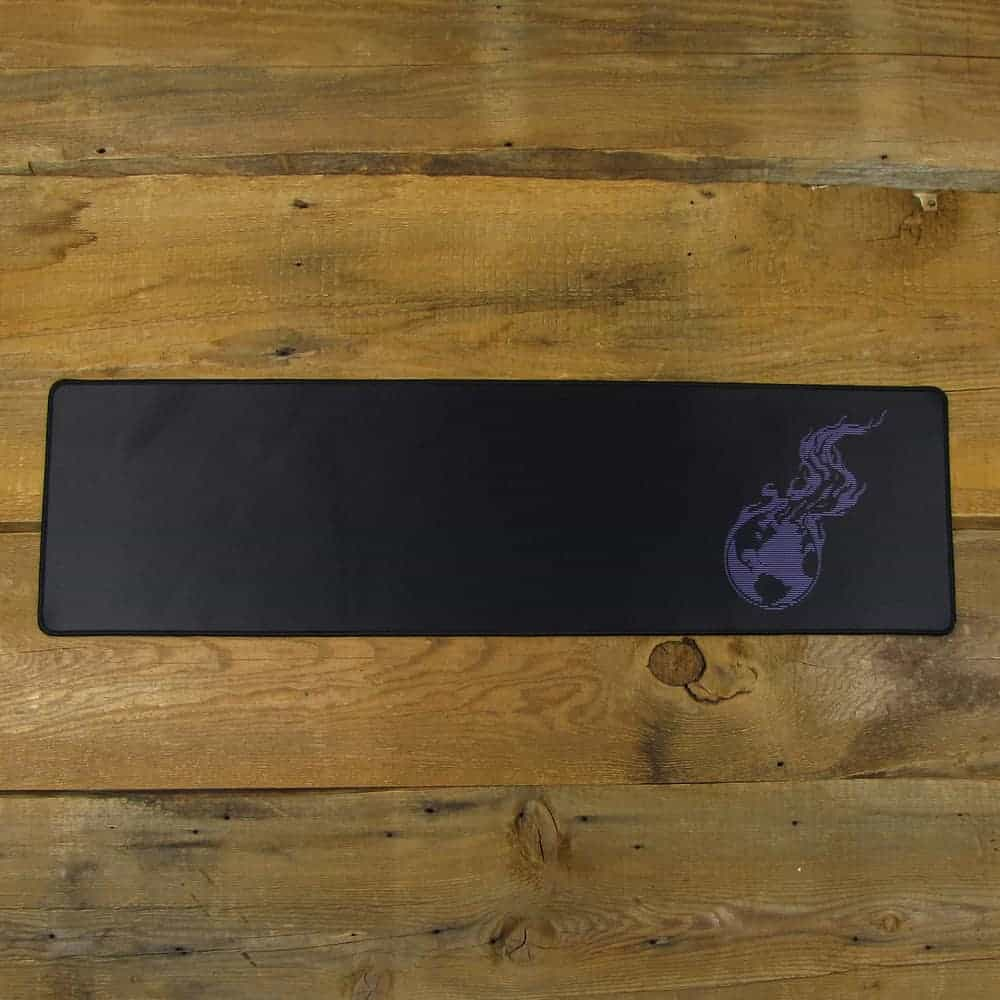 Purple Lined Burning Earth Desk Mat | 90cm x 25cm x 2mm