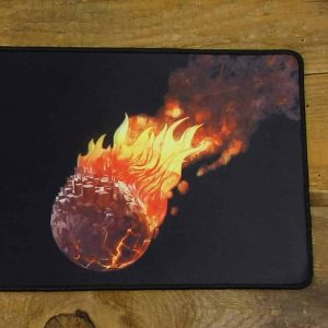 Full Color Burning Earth Desk Mat | 90cm x 25cm x 2mm