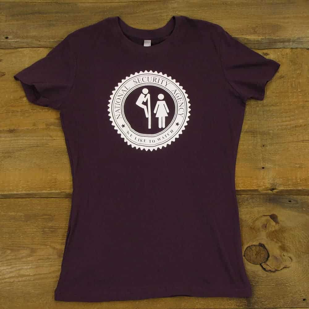The NSA Likes To Watch | Women's PlumT-Shirt