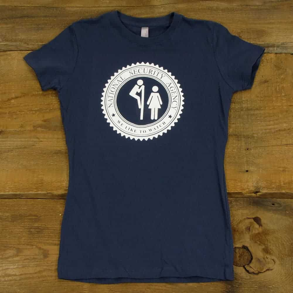 The NSA Likes To Watch | Women's Indigo T-Shirt
