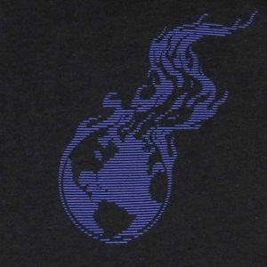 Burning Earth Purple Lined Logo | Women's Tri-Blend T-Shirt